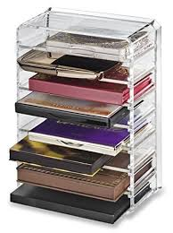 byalegory byalegory acrylic small makeup palette organizer with removeable dividers designed to stan