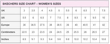 Skechers Baby Size Chart Mossimo Size Charts 2019