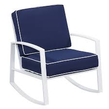 rocker patio chairs. allen + roth ocean park 2-count white aluminum rocking patio conversation chairs with nautical rocker