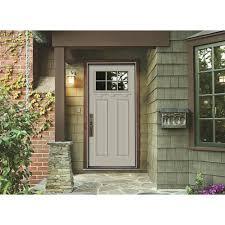 home depot front doors with sidelights404JELDWEN Premium 6 Lite Primed White Steel Prehung Front Door