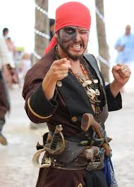 dressing up like a pirate