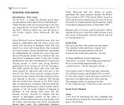 in the park oral analysis a level english marked by document image preview