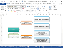 How To Do An Organizational Chart In Word Organizational Chart In Word