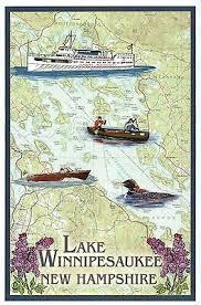 Boat Chart Lake Winnipesaukee New Hampshire Nautical Chart Boat Nh