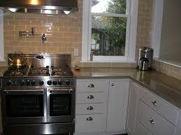 backsplash copper tiles pot filler traditional