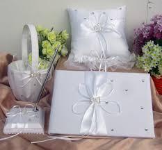 Vory Wedding Accessories Guest Book Pen Ring Cushion Basket Garter