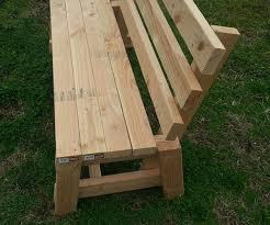wood bench outdoor garden bench