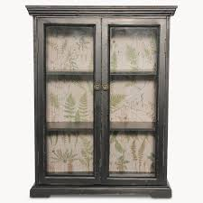 ow brookby black glass fronted wall cabinet