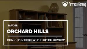 sauder orchard hills computer desk with hutch review