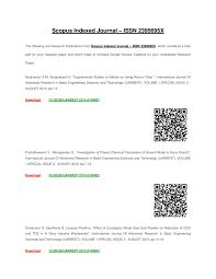 Scopus Indexed Journal Issn 2395695x By Ijarbest Issuu