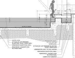 infinity pool edge detail. Delighful Edge Swimming Pool Construction Details Astonishing Detail Drawing By In Infinity Edge