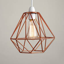 details about modern rose gold diamond cage industrial ceiling light frame pendant lamp shade