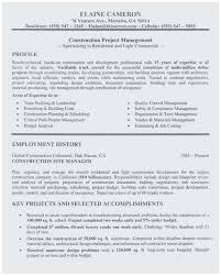 Project Manager Construction Resumes Sample Resume For Project Manager Construction Terrific Project
