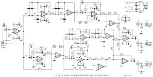 way active crossover wiring diagram schematic diagram guide the schema consists separation as shown in block diagram fig 2 two low pass filters of fourth grade 24db oct for a line of low frequency signals and one