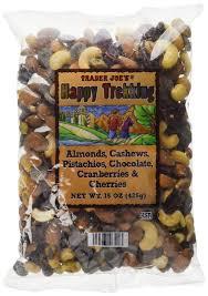 trader joe s happy trekking almonds cashews pistachios chocolate cranberries
