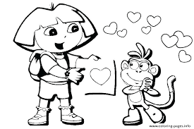 Coloring Pages Dora Coloring Pages Online Free Free Coloring Pages