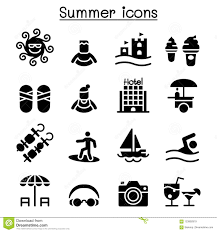 Summer Icon Set Stock Vector Illustration Of Beach 123992919