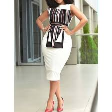 <b>Office</b> Bodycon <b>Dress</b> Women White Elegant Stripe Sexy <b>Fashion</b> ...