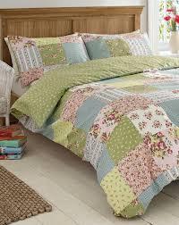 elsie patchwork print duvet cover set j d williams