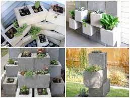 Vasos de jardim · colocadores de concreto. Decoracao Para Jardim Com Blocos De Concreto Como Plantar E Cuidar