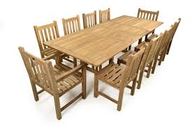 teak outdoor dining chairs. 10 Seater Double Extending Dining Set In Teak Outdoor Chairs I