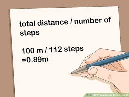 Stride Length Chart 3 Ways To Measure Stride Length Wikihow