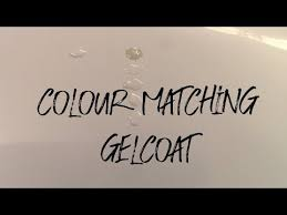 Gelcoat Colour Matching