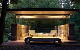 gazebo glass. romantic modern glass gazebo decoration in the night