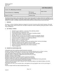 Marketing Coordinator Job Description Job Description  Marketing Coordinator 20