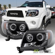 Blk 2005-2011 Toyota Tacoma Halo Projector Headlights+LED Daytime ...