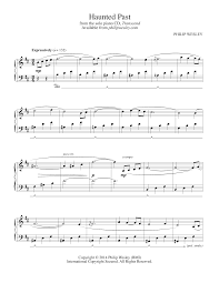 philip wesley sheet music haunted past transcend sheet music philip wesley