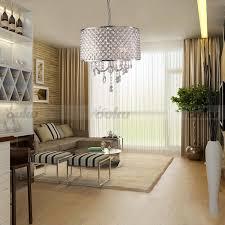 drum chandelier crystal modern 4 lights