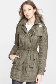 New Burberry Brit 2017 Authentic Finsbridge Belted Quilted Jacket ... &  Adamdwight.com