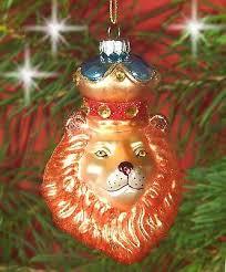 Christbaumschmuck Christbaumkugel Glas Figur Ornament Löwe