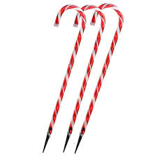 Candy Cane Yard Decorations Set of 60 Lighted Outdoor Candy Cane Christmas Yard Decorations 60 56
