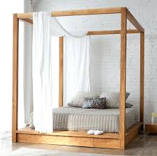 Canopy Bed Wood Decor Of Wooden Canopy Bed With Black Wood Canopy ...