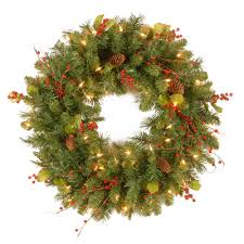 national tree company classical collection 24 in artificial wreath with clear lights national tree company wreaths n72
