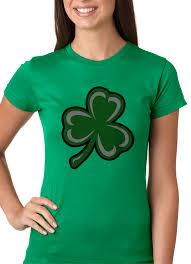 Small Picture Flashing Light Up Shamrock Ladies T Shirt Kelly Green
