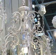 B Ware Kronleuchter Viktoria Antik Weiß Handgemacht E14 Deckenlampe Hängelampe Acrylglas