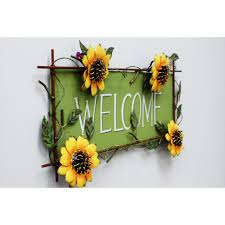 Sunflower Home Decor Attractiondesignhome Sunflower Welcome Sign Wall Dccor Reviews