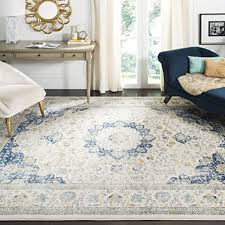 safavieh evoke collection evk220c vintage oriental ivory and blue area rug 10 x 14
