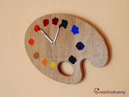 painter palette artistic wall clock