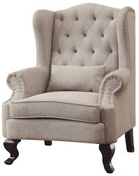 willow beige accent chair from furniture of america  coleman