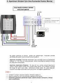 şifreli kapı kilidi bağlantı şeması
