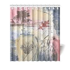 purple and blue shower curtains. Delighful Curtains GCKG Fall Autumn Tree Painting Shower Curtain Hooks 66x72 Inches Purple Blue  Pink Cool Colors Fabric Vintage Art Of Reeds Trees Grasses  Intended And Curtains I