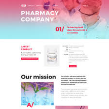 pharmacy design company drug store website template