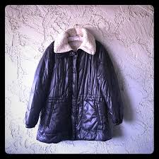 Kenneth Cole Lined Puff Coat In Charcoal Purple