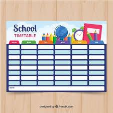 School Time Table Chart Decoration Ideas Www
