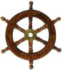 12 nautical wooden ship steering wheel pirate decor wood brass fishing wal boat