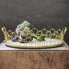 Decorative Wire Tray Decorative Wood Tray with Yellow Wire Antique Farmhouse 8